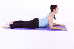 Woman in Yoga Position. Isolated Stock Photos