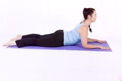 Woman in Yoga Position Stock Photos