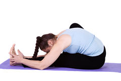 Woman in Yoga Position Royalty Free Stock Image