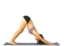 Woman in Yoga Position Royalty Free Stock Photos