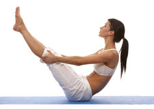 Woman and yoga Stock Photography