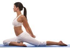 Woman and yoga Stock Photo