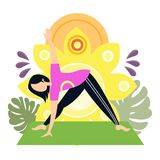 Woman yoga sport exercise vector illustration Vector Illustration