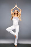 Woman yoga sports wear gym fitness health collection athlete Stock Photo
