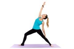 Woman yoga teacher Royalty Free Stock Photo