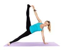 Woman yoga teacher Stock Image