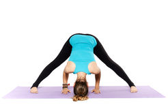 Woman yoga teacher Stock Photo