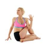 Woman yoga teacher Stock Photos