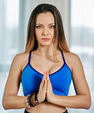 Woman yoga trainer Royalty Free Stock Photo