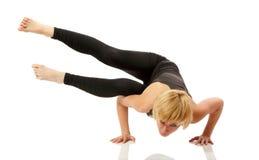 Woman yogi in yoga pose royalty free stock image