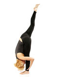 Woman yogi in yoga pose stock images