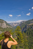 Woman At Yosemite Stock Images