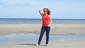 15 woman young Θάλασσα Στοκ Εικόνες