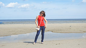 15 woman young Θάλασσα Στοκ φωτογραφίες με δικαίωμα ελεύθερης χρήσης