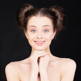 Woman. Young Cute Face Stock Photo