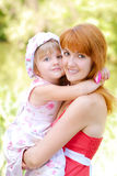 Woman and young girl Royalty Free Stock Photos