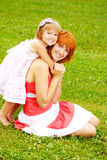 Woman and young girl Royalty Free Stock Image