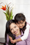 Woman and young girl Royalty Free Stock Images