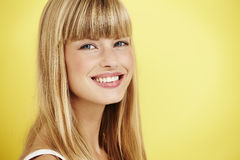 Woman. Young woman smiling with confidence at camera Royalty Free Stock Image