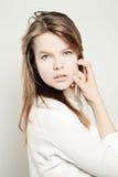 15 woman young Sund hud- och nakenstudiemakeup Fotografering för Bildbyråer