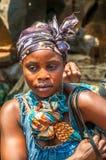 Woman from Zambia. Woman from Livingstone City (Zambia Stock Image