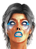 Woman Zombie with Blue Lips Stock Images