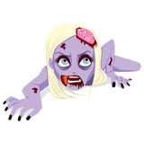 Woman Zombie Crawling Royalty Free Stock Photo
