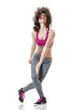 Woman zumba dancer dancing fitness exercises Royalty Free Stock Image