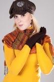 Womana con el sombrero Foto de archivo libre de regalías
