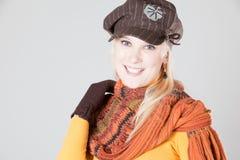 Womana met hoed Stock Afbeelding