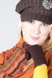 Womana met hoed Stock Foto's