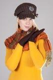 Womana met hoed Royalty-vrije Stock Foto's