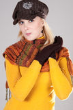 Womana met hoed Royalty-vrije Stock Foto