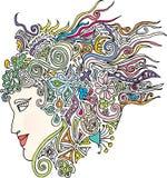 Womanhead Stockfoto