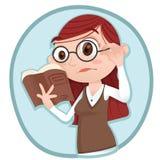 Womanholding i czytelnicza książka Obraz Stock