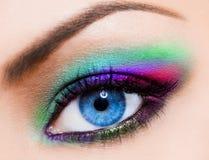Womanish Auge Lizenzfreies Stockfoto