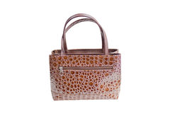 Womanish Brown Crocodile Leather Handbag. Royalty Free Stock Images