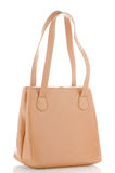 Womanish brown leather bag Stock Photography