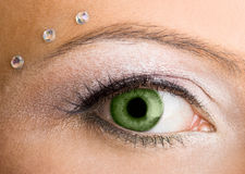Womanish eye Stock Images