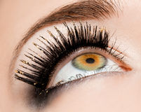 Womanish eye Stock Photo