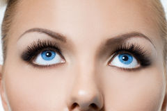 Womanish eyes Royalty Free Stock Photography