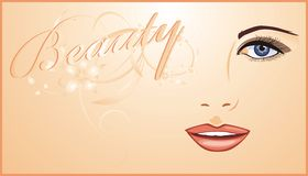 Womanish face. Background for card Royalty Free Stock Images