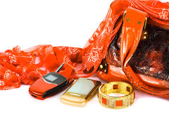 Womanish handbag Stock Photography