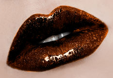 Womanish lips Stock Photography