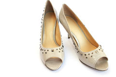 Womanish shoes Stock Photography