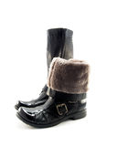 Womanish winter shoe Royalty Free Stock Images