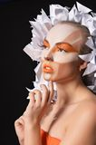Womanl with artistic makeup Royalty Free Stock Photos