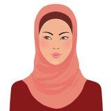 Womanl oriental musulmán en hijab ilustración del vector