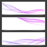 Womanly swoosh lines abstract flyers set. Collection. Vector illustration royalty free illustration