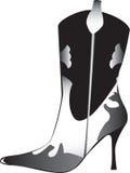 womans накрененные ботинком высокие Стоковое Фото